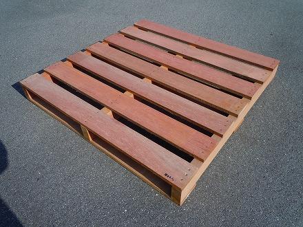 新品/木製 保管用 南洋材 1100×1100×130